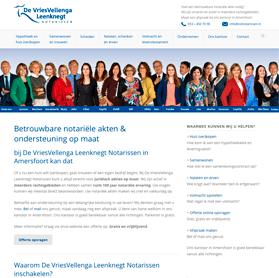 Klantvriendelijke website en teksten – VVL Notarissen Amersfoort