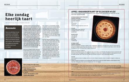 Recensie kookboek Elke zondag heerlijk taart - Stadstuinieren - Janine Bruinooge